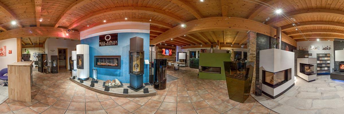 Chiemgauer Ofenzentrum Ausstellung 360°